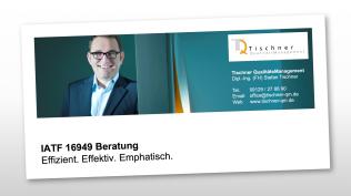 Stefan Tischner - IATF16949 Beratung Einführung Auditierung Schulung Consulting Unterstützung und Hilfe zu ISO 9001 14001 45001 50001 in Nürnberg Mittelfranken Bayern Baden-Württemberg Hessen Thüringen Sachsen