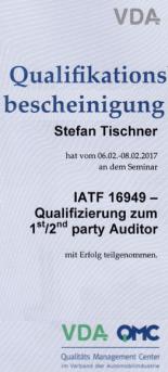 IATF 16949 Auditor Stefan Tischner